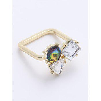 Chic Rhinestone Triangle Ring - GOLDEN ONE-SIZE