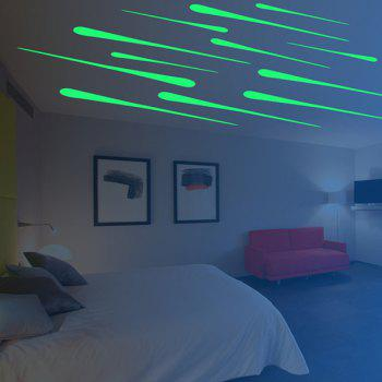 17CM Dormitory Creative Plastic Fluorescent Meteor Patch 12 Pack Wall Stickers - YELLOW