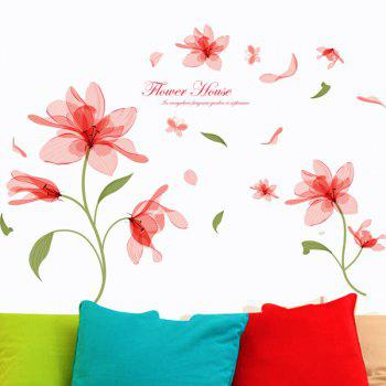 Sweet Removable Waterproof Flower Pattern Wall Stickers - COLORMIX
