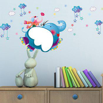 Children's Room Cartoon Elephant Removable Wall Stickers - COLORMIX