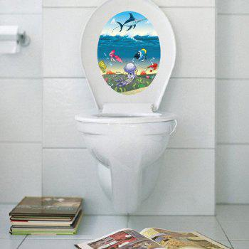 Colorful Cartoon Marine Life Waterproof Toilet Wall Stickers