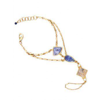 Faux Gem Multilayered Geometric Bracelet - GOLDEN