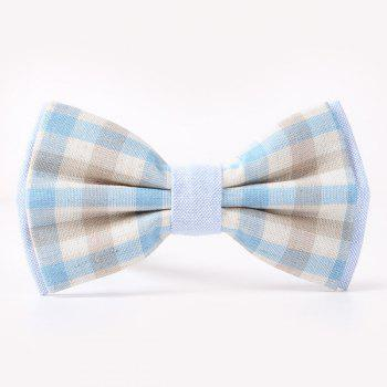 Stylish Tartan Pattern Banquet Wedding Party Double-Deck Bow Tie