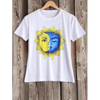 Artistic Sun and Moon Pattern Tee