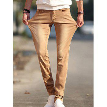 Brief Style Slim-Fit Jeans For Men