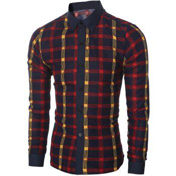 Stylish Checked Long Sleeve Shirt For Men