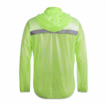 Fashionable Outdoor Bicycle Waterproof Solid Color Raincoat Cycling Clothes - GREEN GREEN