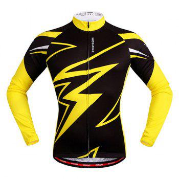 Hot Sale Spring Outdoor Long Sleeves Lightning Pattern Cycling Jersey