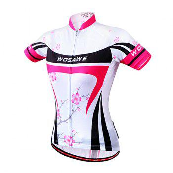 Fashional Summer Outdoor Plum Blossom Design Cycling Clothes For Women - ROSE RED XL