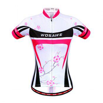 Fashional Summer Outdoor Plum Blossom Design Cycling Clothes For Women