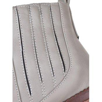 Fashionable Stitching and Elastic Band Design Women's Ankle Boots - GRAY 39