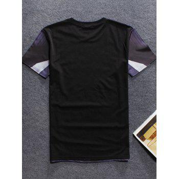 Bridge 3D Print Short Sleeve Round Neck Men's T-Shirt - BLACK S
