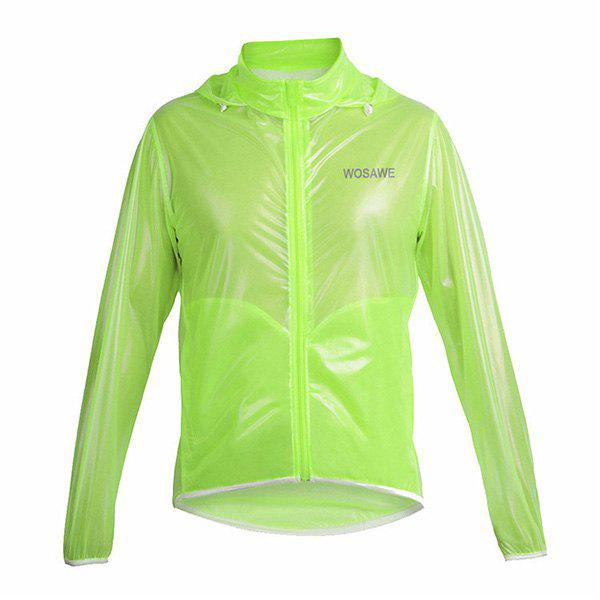 Fashionable Outdoor Bicycle Waterproof Solid Color Raincoat Cycling Clothes - GREEN M