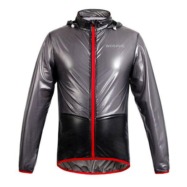 Fashionable Outdoor Bicycle Waterproof Solid Color Raincoat Cycling Clothes - BLACK 2XL