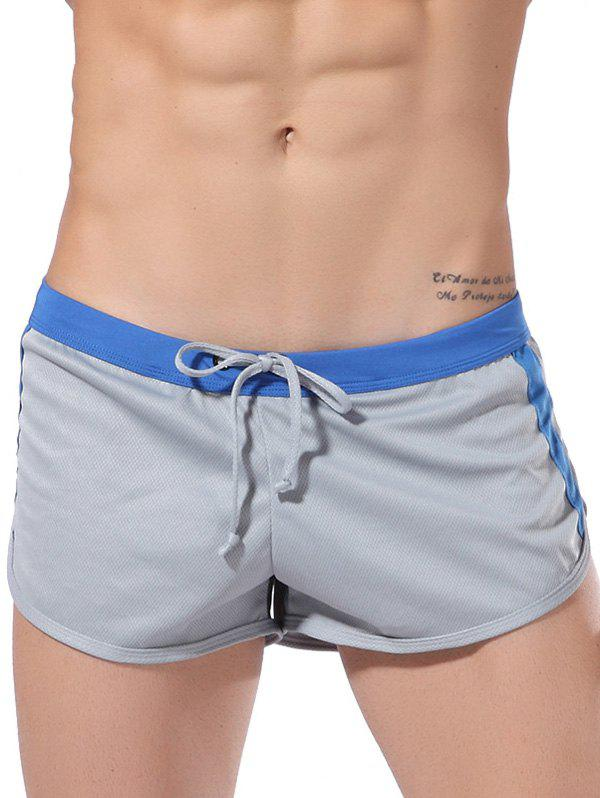 Casual Drawstring Waistband Sporty Shorts For Men - GRAY S