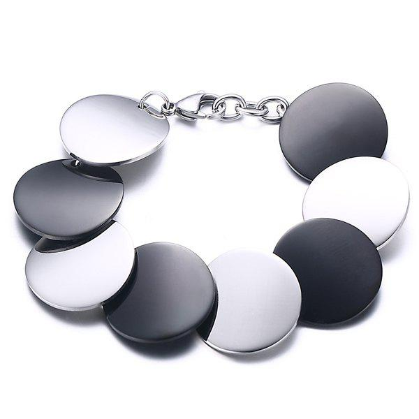 Stylish High Polished Multicolored Disc Bracelet For Women