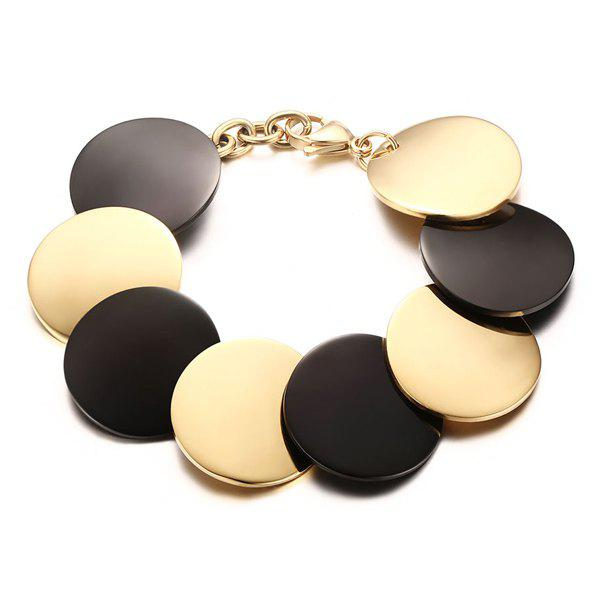 Trendy Tiered Multicolor Disc Alloy Bracelet For Women