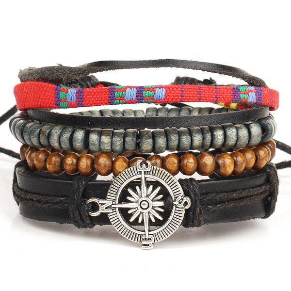 A Suit of Trendy Compass Bracelets For Men