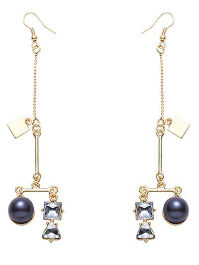 Graceful Faux Crystal Beads Earrings - GOLDEN