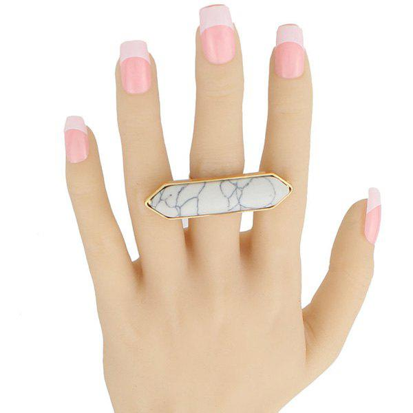 Bullet Shape Faux Rammel Ring