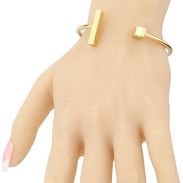 Chic T Shape Gold Plated Solid Color Cube Cuff Bracelet For Women nora robertsa kolekcionārs