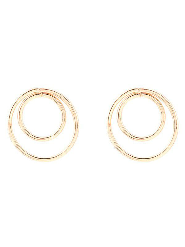 Circles Minimalist Design Earrings - GOLDEN