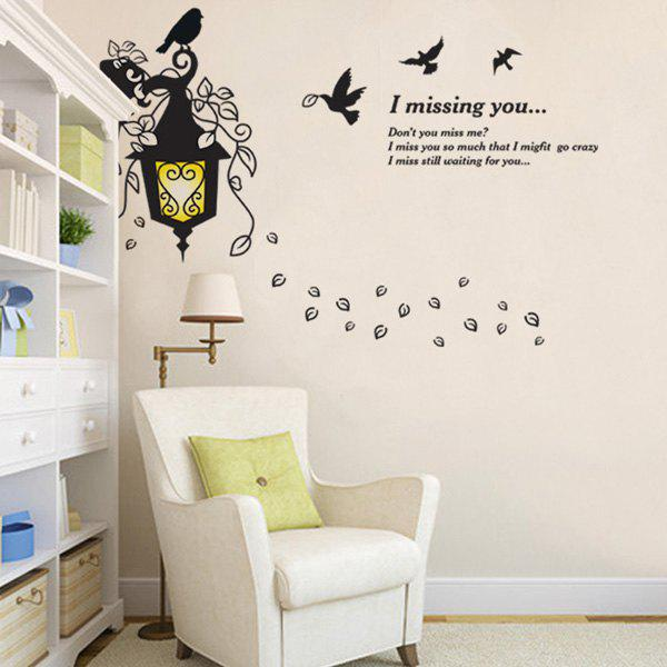 Droplight Words Letters Creative Waterproof Wall Stickers - YELLOW/BLACK