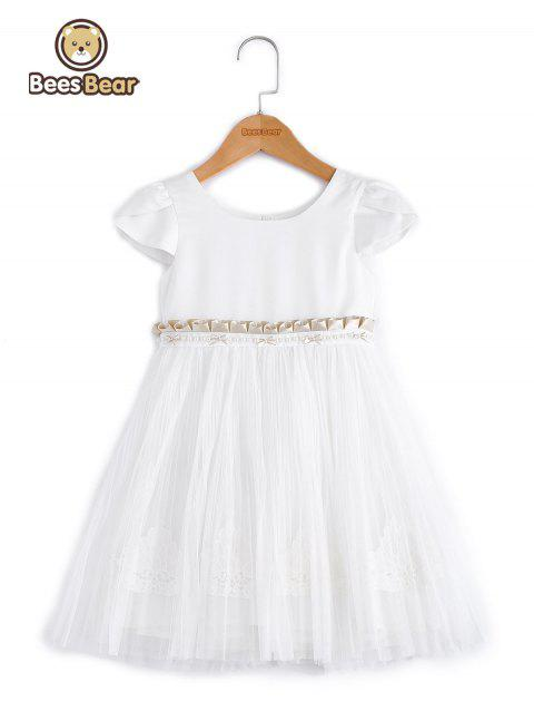 Doux manches courtes White Ball robe - Blanc CHILD-10