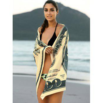 Chic Printed Square Cover Up Sarong - BEIGE ONE SIZE(FIT SIZE XS TO M)