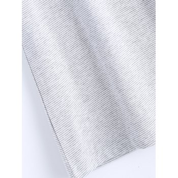 Simple Design Striped Tee - GRAY ONE SIZE