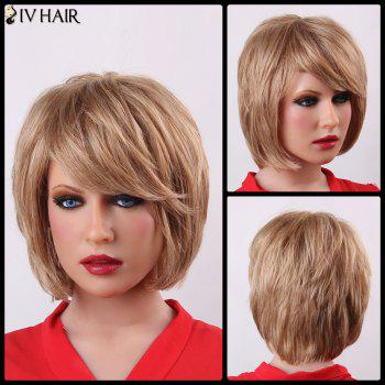 Trendy Natural Straight Capless Human Hair Fluffy Short Layered Siv Hair Wig For Women