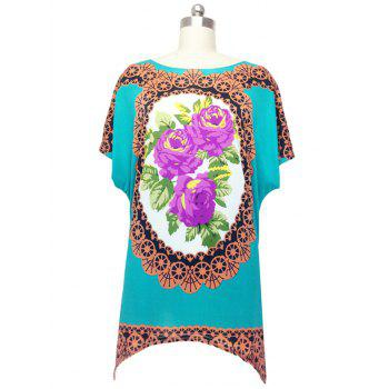 Vintage Floral Print Blouse For Women