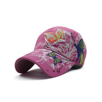 Chic Rattan Butterfly Embroidery Baseball Hat