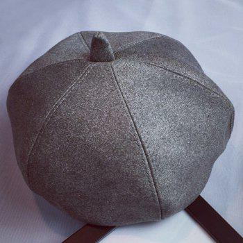 Hot Sale Solid Color Art Painter Faux Suede Women's Beret