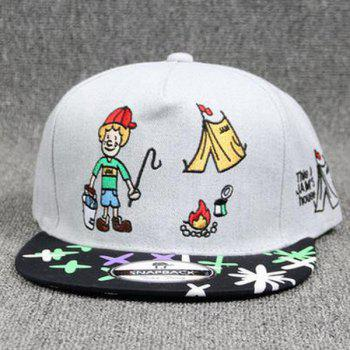 Hot Sale Clown Embroidery Street Fashion Doodle Women's Baseball Hat