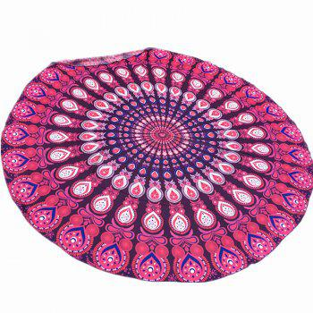 Arab Style Bikini Boho Swimwear Mandala Printed Chiffon Round Beach Throw Scarf