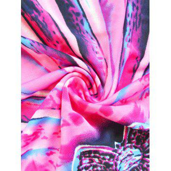 Casual Women's Abstract Print Batwing Sleeves Dress - COLORMIX ONE SIZE