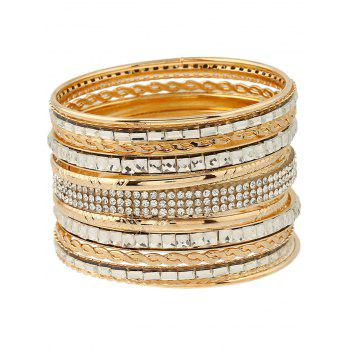 Stylish Rhinestone Embossed Layered Bracelets