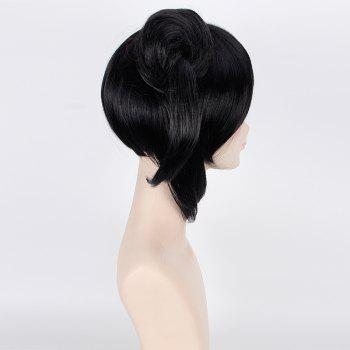 Stylish Double Chignons Black Anime Love Live Yazawa Nico Awake Kimono Cosplay Wig -  BLACK