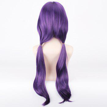 Trendy Purple Extra Long With Bunches Anime Love Live Tojo Nozomi Uniform Style Cosplay Wig - PURPLE