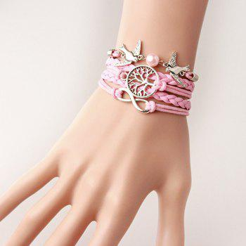 Tree of Life Infinity Bird Strand Bracelet