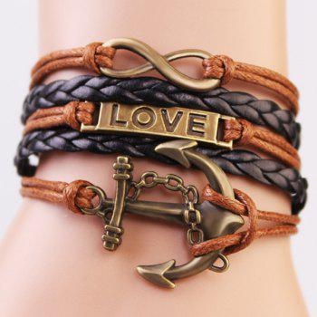 Casual Anchor Infinite Strand Bracelet