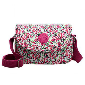 Leisure Magnetic Closure and Tiny Floral Print Design Women's Crossbody Bag - ROSE MADDER ROSE MADDER