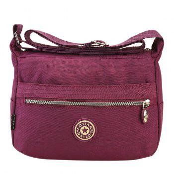 Leisure Nylon and Zip Design Women's Shoulder Bag - PURPLE PURPLE