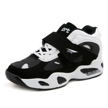 Stylish Splicing and Color Block Design Men's Athletic Shoes - WHITE/BLACK 43