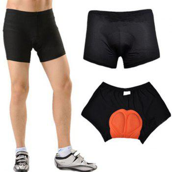 Hot Black Breathability Gel Pad Tight Cycling Shorts For Unisex - BLACK L