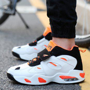 Stylish Splicing and Color Block Design Men's Athletic Shoes - ORANGE / WHITE 42