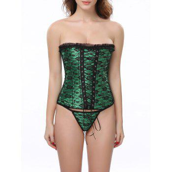 Ruffle Corset With G String