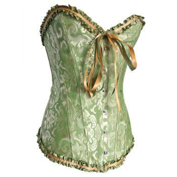 Alluring Lace-Up Slimming Women's Corset - GREEN S
