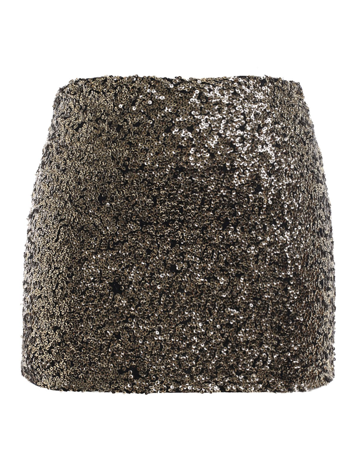 OL Style Plus Size Sequined Bodycon Skirt